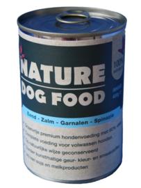 Nature Dogfood | Eend, Zalm, Garnaal & Spinazie | vanaf 400 gram