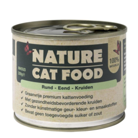 Nature Catfood   Rund, Eend en Kruiden   200 gram