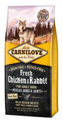 CARNILOVE DOG | Fresh kip & konijn | 12 KG (THT 07-12-2019)