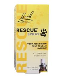 BACH RESCUE Remedy | Spray PETS (zonder alcohol) | 20 ml