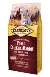 CARNILOVE CAT | Fresh kip & konijn | 6 KG (THT 23-07-2020)