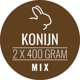CARNIVOER | Konijn-Mix HOND & KAT | 2 x 400 gram