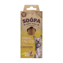 SOOPA | Dental sticks | Banaan & Pindakaas  | per 4 stuks in doosje