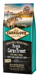 CARNILOVE DOG | Fresh Karper & forel | 12 KG (THT 31-11-2019)