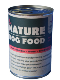 Nature Dogfood | Hert, Rendier, Wortel & Cranberry | vanaf 400 gram