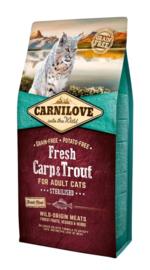 CARNILOVE CAT | Fresh Karper & forel | 6 KG (THT 10-1-2020)