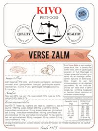 KIVO | Verse Zalm - graanvrij - koudgeperst | 15 KG