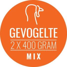 CARNIVOER | Gevogelte-Mix HOND & KAT | 2 x 400 gram