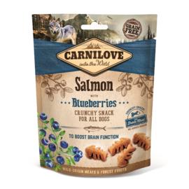 CARNILOVE | Crunchy Snack Zalm met bosbessen |  200 gram