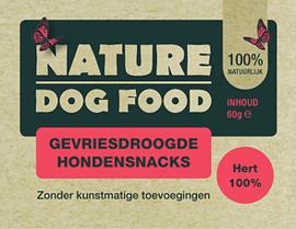 NATURE DOGFOOD | gevriesdroogd 100% HERT | 60 gram