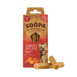 SOOPA | Dental sticks | Cranberry & Zoete Aardappel  | per 4 stuks in doosje