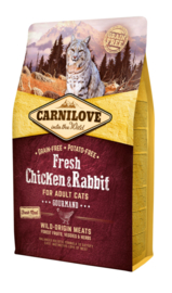 CARNILOVE CAT | Fresh kip & konijn | 2 KG (THT 14-12-2019)