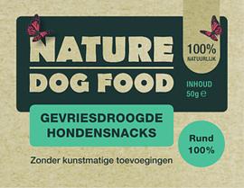 NATURE DOGFOOD | gevriesdroogd 100% RUND | 50 gram