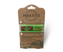 Parakito Armband Design Groen Navulbare band & 2 tabletten