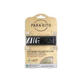 Parakito Armband Design Zwart Navulbare band & 2 tabletten