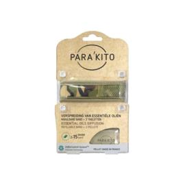 Parakito Armband Design Camouflage Navulbare band & 2 tabletten