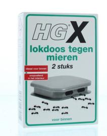 Hg Lokdoos tegen mieren 2 stuks wit.