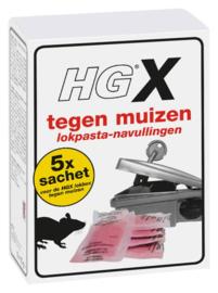 HG X lokpasta tegen muizen navulling 5 stuks