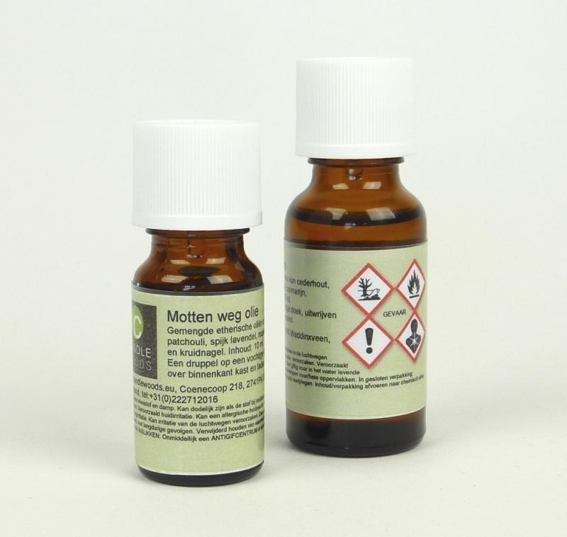 Motten-weg geurolie. 10 ml.