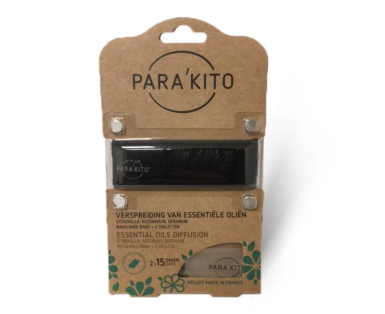 Parakito Armband Zwart Navulbare band & 2 tabletten