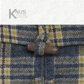 Kussen Linen & More - Winston 50x40 Grey/Ochre Yellow