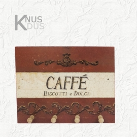 Landelijk sleutelbord `Caffé`
