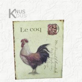 Blikken Wandbord `Le Coq`