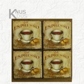 Set onderzetters 'Espresso'