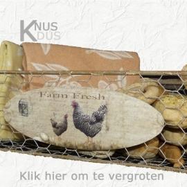 Draad (eier)mand `Farm Fresh`