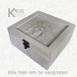 Houten kistje `Antieke vaas`