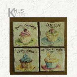 Set onderzetters 'Cupcakes'