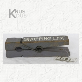 Stoere Knijper `Shopping List`