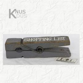 Stoere Knijper `Shopping List`