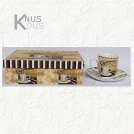 Set Kop en schotels Cappuccino