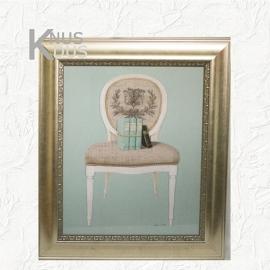 Landelijk schilderij 'Chair'