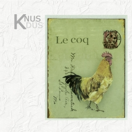 Blikken Wandbord `Le Coq` (rechts)
