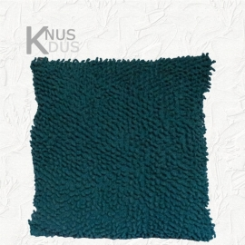 Kussen Linen & More - Twisted loop Turquoise 45x45