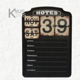 Landelijk krijtbord met kalender
