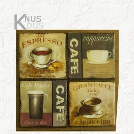 Set onderzetters 'Caffee'- diversen