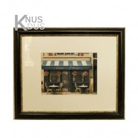 Landelijk schilderij 'Cafe Flora'