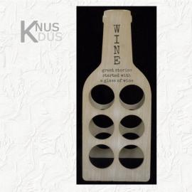 Landelijk wijnrek met opdruk