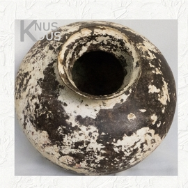 Originele metalen waterkruik - creme