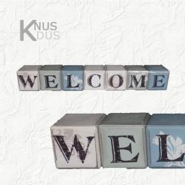 Set kubussen `Welcome`