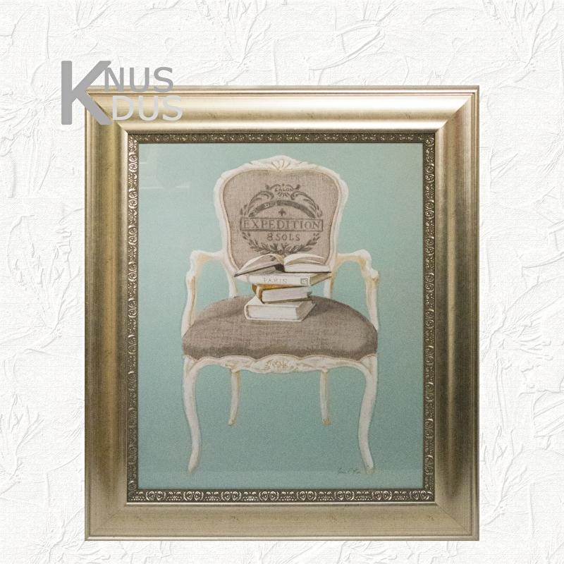 Landelijk schilderij 'Arm chair'