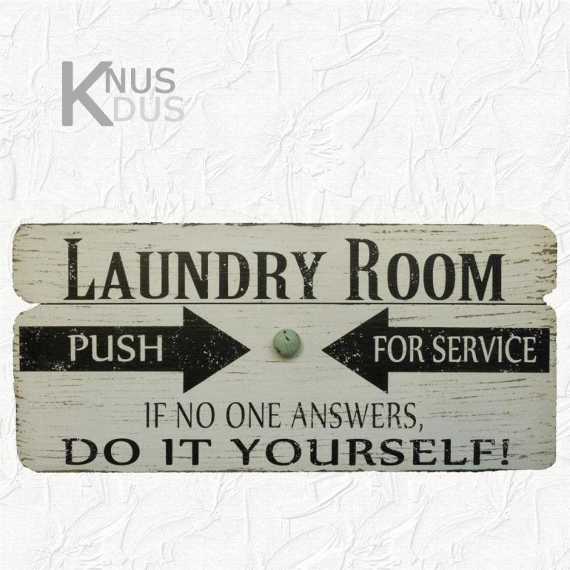 Wandbord 'Laundry Room'