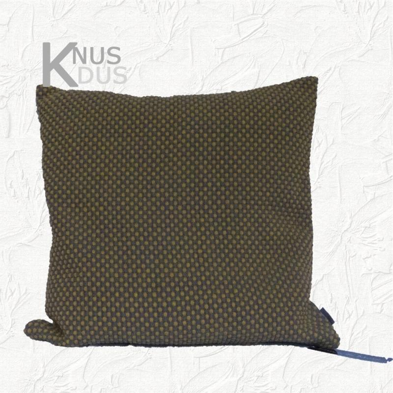 Kussen Linen & More - Duo Wave 45x45 Grey/Ochre Yellow