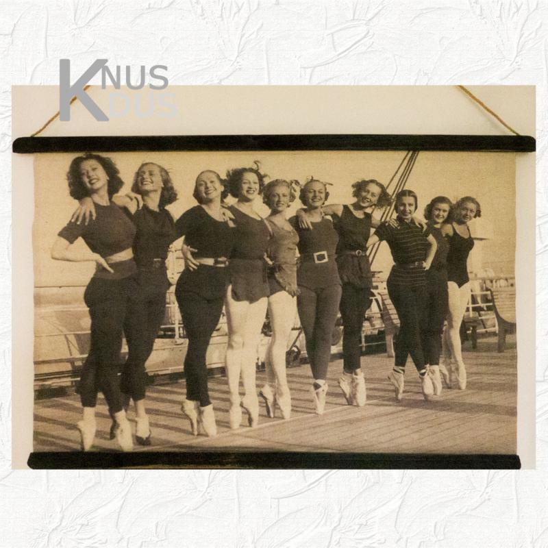 Wandkaart met oude foto 'Ballet' - van Kolony