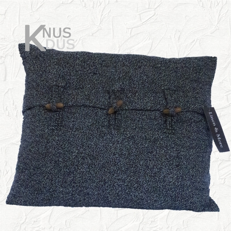 Kussen Linen & More - Oxford Wool 50x40 Grey Melange