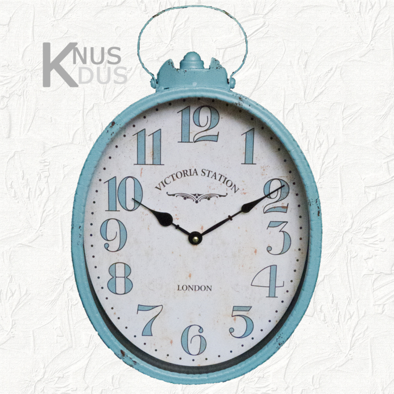 Landelijke ovale klok van Kolony - Blue