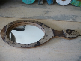 Scrapwood handspiegel oval nr . 3